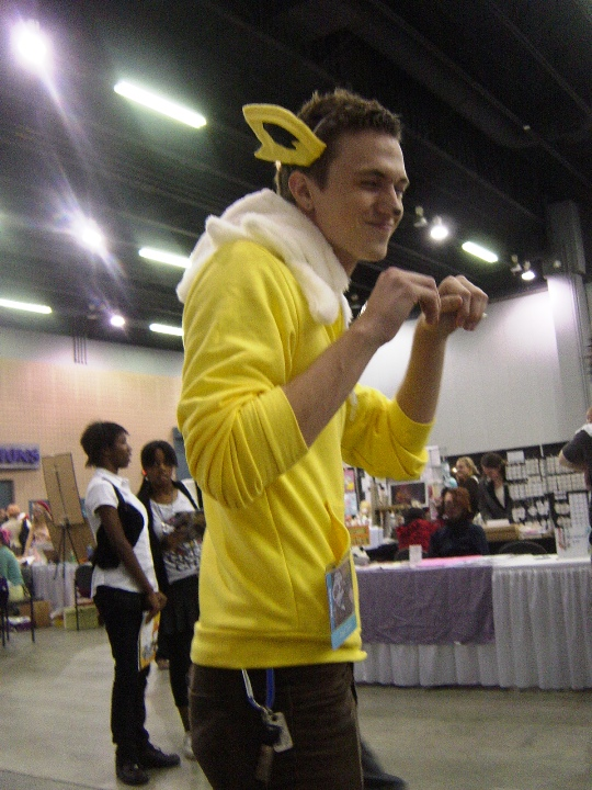 """Pokemon gijinka are the new """"in"""" thing to cosplay, but come on, this guy is adorable. (And Jolteon is awesome, so there.)"""
