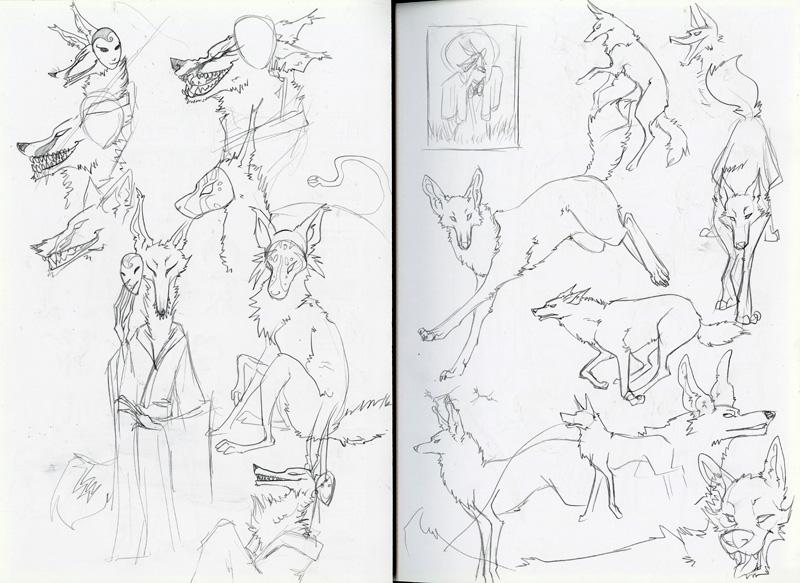 Monster Masquerade sketches 2
