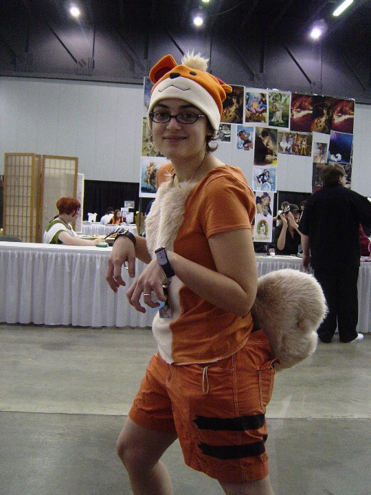 This photo's actually from Sunday, but since we're doing Pokemon gijinka. :P This is my ex-roommate Growly (yes, that's what we actually call her) as Growlithe. ;D