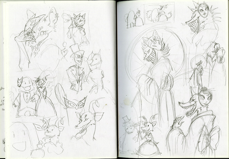 Monster Masquerade sketches